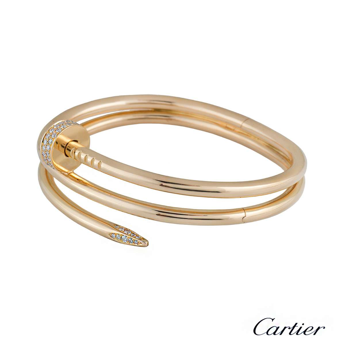 lyst juste bracelet white metallic in un clou cartier diamond jewelry